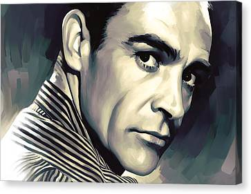 Sean Connery Artwork Canvas Print by Sheraz A