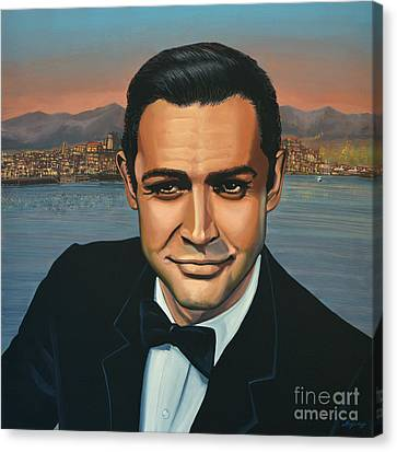 James Bond Canvas Print - Sean Connery As James Bond by Paul Meijering