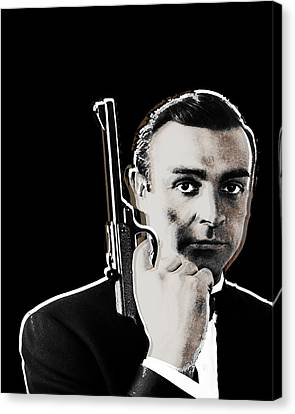 Sean Connery James Bond Vertical Canvas Print by Tony Rubino