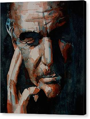 Sean Connery  Canvas Print by Paul Lovering