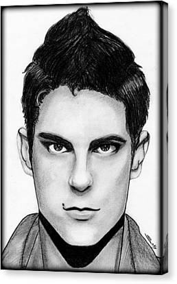 Sean Faris Canvas Print by Saki Art