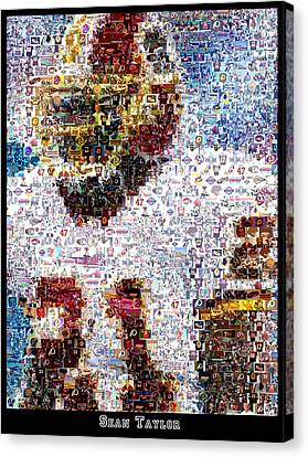 Sean Taylor Mosaic Canvas Print