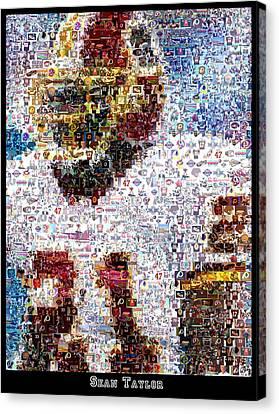 Sean Taylor Mosaic Canvas Print by Paul Van Scott
