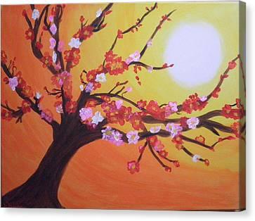 Sean's Apple Bloosom Tree Canvas Print by Tami Farina