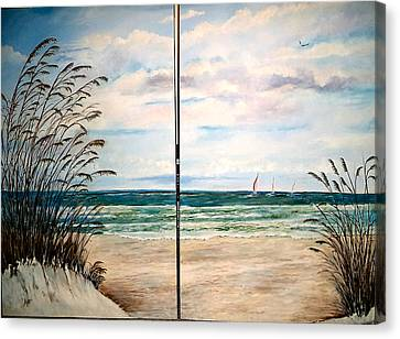 Seaoats On The Beach Canvas Print