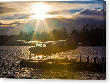 Seaplane Sunset Canvas Print by Charlie Duncan