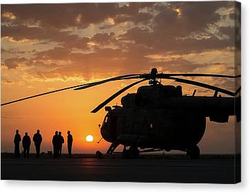 Search And Rescue Helicopter Canvas Print by Nasa/bill Ingalls