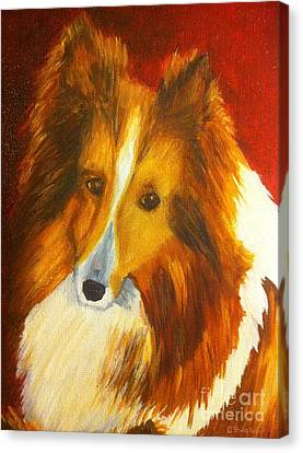 Canvas Print featuring the painting Searcher by Shelia Kempf