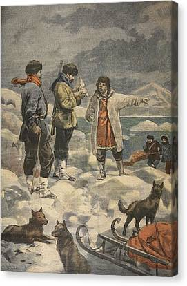 Huskies Canvas Print - Searching For Andree, News! by French School