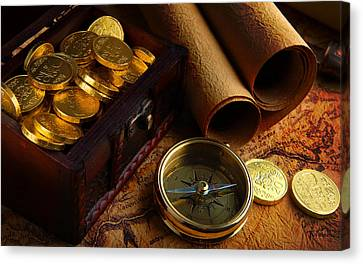 Searching For The Gold Treasure Canvas Print by Gianfranco Weiss