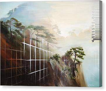 Canvas Print featuring the painting Searching Huang Shan by Dave Platford