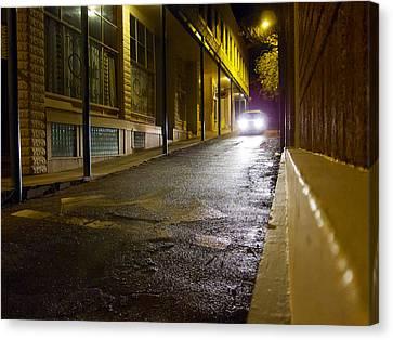 Streetlight Canvas Print - Searching by Mary Lee Dereske