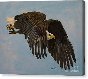 Eagle Canvas Print - Searching by Zina Stromberg