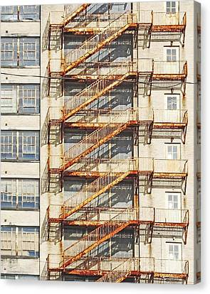 Sears Crosstown Fire Escape Memphis Tn Canvas Print