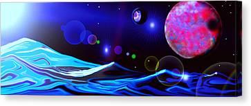 Seas In Space Canvas Print by Jessie J De La Portillo