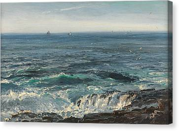 Looking To The Sky Canvas Print - Seascape 1877 by Henry Moore