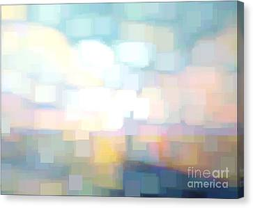 Bed Spread Canvas Print - Seascape Abstracted by Karen Francis