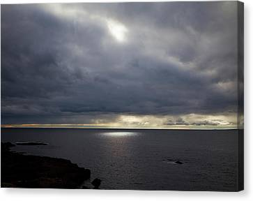 Co. Clare Canvas Print - Seascape And Sunburst Off The Burren by Panoramic Images