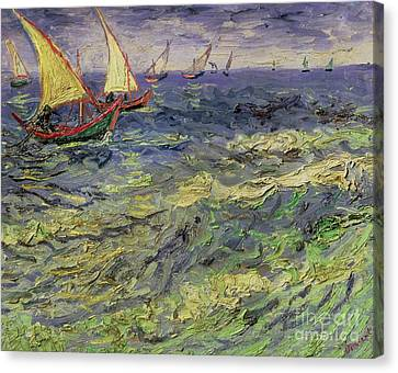 Seascape At Saintes-maries 1888 Canvas Print by Vincent van Gogh