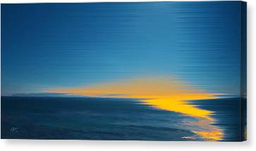 Seascape At Sunset Canvas Print by Ben and Raisa Gertsberg
