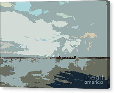 Seascape Cutouts Canvas Print by Karen Francis