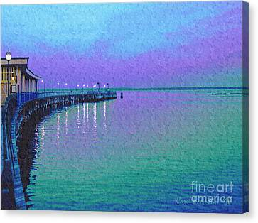 Painterly Seascape Purple Flurry Canvas Print