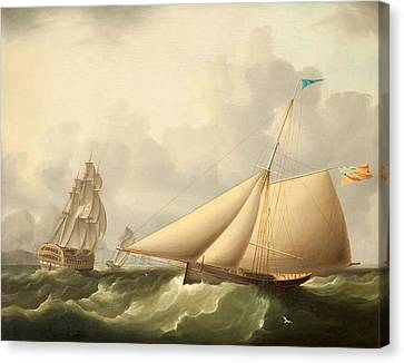 Seascape Canvas Print by James E. Buttersworth