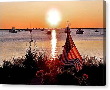 Seascape Sunrise Canvas Print by Janice Drew