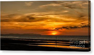 Seascape Sunset 2 Canvas Print by Adrian Evans