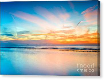 Seascape Sunset Canvas Print by Adrian Evans
