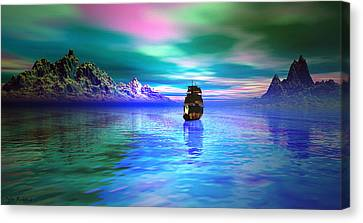 Water Vessels Canvas Print - Seascape by Tyler Robbins