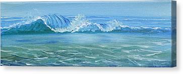 Seascape Wave IIi Canvas Print by Trina Teele