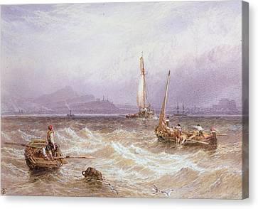 Seascape Canvas Print by Myles Birket Foster