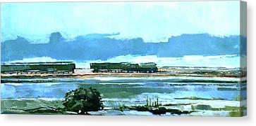 Seascape Xii Canvas Print by Stuart Roy