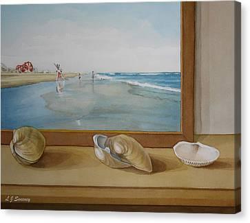 Seashells By The Jersey Shore Canvas Print by Lauren Sweeney