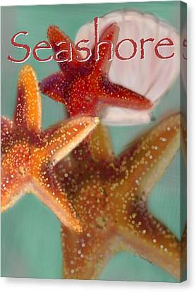 Seashore Poster Canvas Print by Christine Fournier