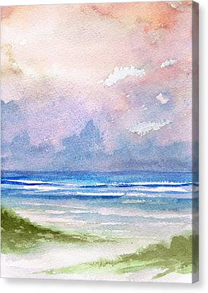 Seashore Sunset Canvas Print by Rosie Brown