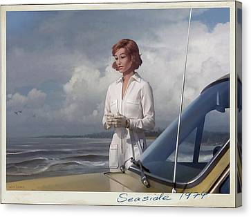 Seaside 1974 Canvas Print by Udo Linke