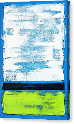 Lime Canvas Print - Seaside - Abstract Modern Art By Sharon Cummings by Sharon Cummings