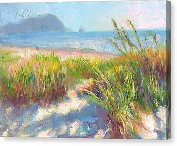 Painterly Canvas Print - Seaside Afternoon by Talya Johnson