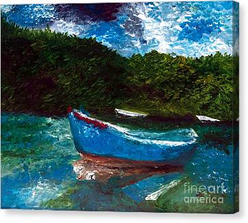 Seaside Blue Boy II Canvas Print by Ayasha Loya