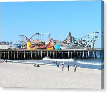 Seaside Casino Pier Canvas Print by Neal Appel