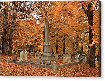 Seaside Cemetery Deer Isle Maine Canvas Print by David Smith