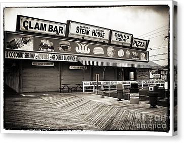 Seaside Clam Bar Canvas Print by John Rizzuto