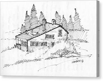 Seaside Cottage Monhegan Island 1993 Canvas Print
