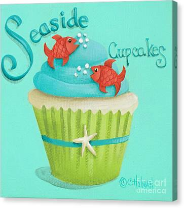 Seaside Cupcakes Canvas Print by Catherine Holman