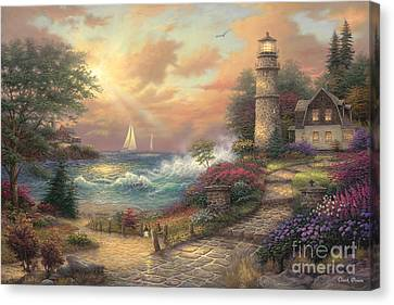 Crashing Canvas Print - Seaside Dream by Chuck Pinson