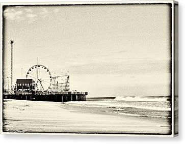 Seaside Heights Funtown Pier Vintage  Canvas Print by Terry DeLuco