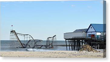 Seaside Heights Jetstar Canvas Print by Sami Martin