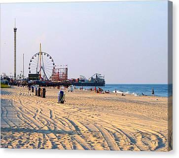 Seaside Heights Photo Canvas Print by Skip Van Lenten